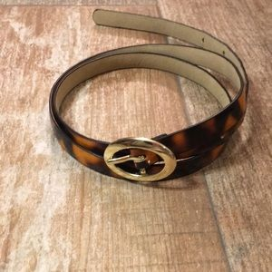 Charming Charlie Tortoiseshell Belt w/ Gold Buckle